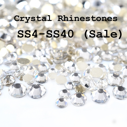 SS4-SS40 Crystal Clear Rhinestone Nail Art Decorations Top Glass Flatback Non Hotfix Charm Phone Nail Jewelry Accessories