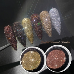 1jar Shining Sugar Nail Powder Rose Gold Sandy Nail Glitter Dust Luxury Sparkles Nail Art Pigment Laser For Gel Polish Decorations