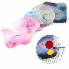 1pcs Resin Nail Art Palette Color Board Butterfly/Shell/Hexagon/Round/Square Designs Nail Tips Display Holder Manicure Tools