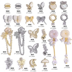 1pcs Zircon Nail Art Butterfly Decorations Luxury Bowknots Daisy Flower Pendant Rhinestones Jewelry Ornaments Manicure Accessories