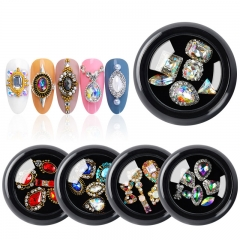 1 Box/24 Models Mixed Luxury Charm Crystal Alloy Nail Rhinestone Bow jewelry 3D Fashion Nail Decoration Manicure Tools.
