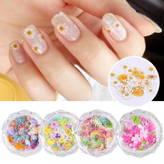 1jar Colorful Flower Leaf Daisy Star Flamingo Mermaid Crown Letters Designs Nail Sequins Glitter Confetti Nails Art Decorations