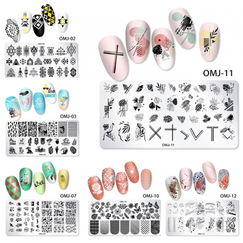 1Pcs 12*6cm Nail Art Templates Stamping Plate Christmas Tree Butterfly Love Lace Design Stamp Templates Printing Plates Image 12
