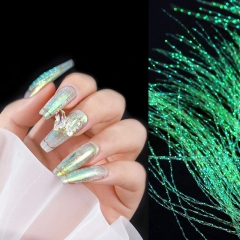 1 pack Fluorescent Filament Nail Art Decorations Holographic Colorful Line Silk DIY Fashion Nail Designs Manicure Accessories