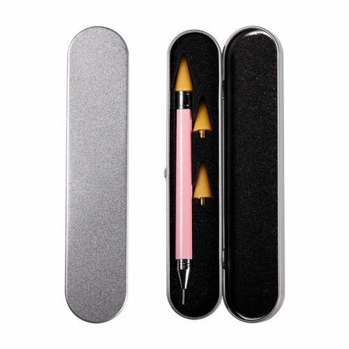 Double Head Acrylic Point Pen Nail Art Rhinestone Picker Wax Pencil Nail Dotting Pen