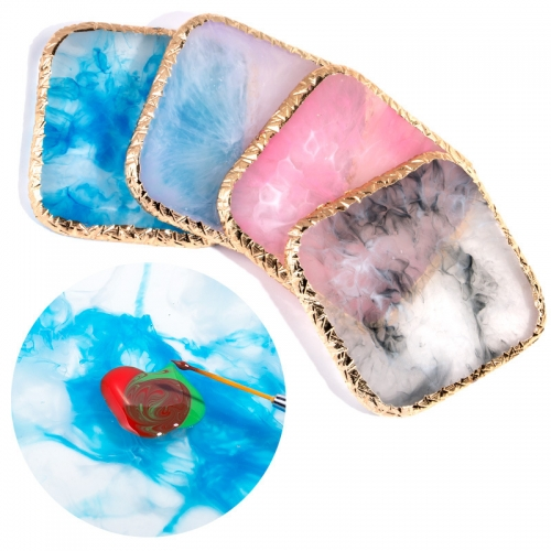 Multi-function Square Nail Color Palette Colorful Resin Palette