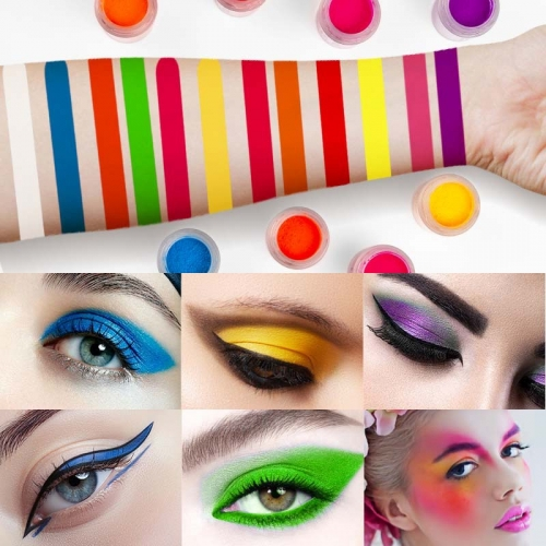 12 Colors Neon Makeup Glossy Cosmetic Glitter Luminous Eye Shadow