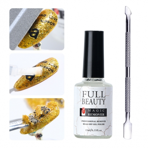 1set Nail Degreaser Magic Remover Burst Gel Nail Varnishes Cleaner Cuticles UV Gel Soak Off Polishing Tools Manicure